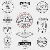 Fotografie Golf Abzeichen Logos und Etiketten für jede Verwendung