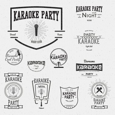 Karaoke badges logos and labels for any use