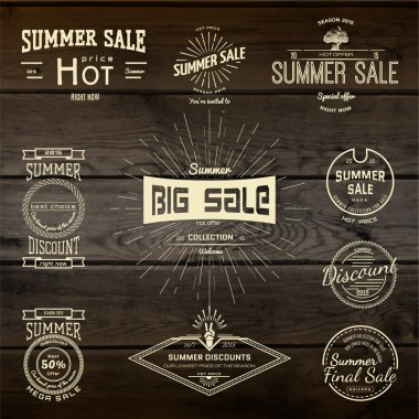 Summer sale badges logos and labels for any use