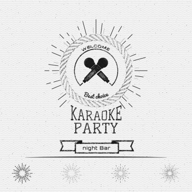 Karaoke party badges logos and labels for any use