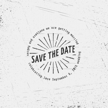 Save the date badges cards and labels, can be used to design wedding cards, presentations, invitations clip art vector