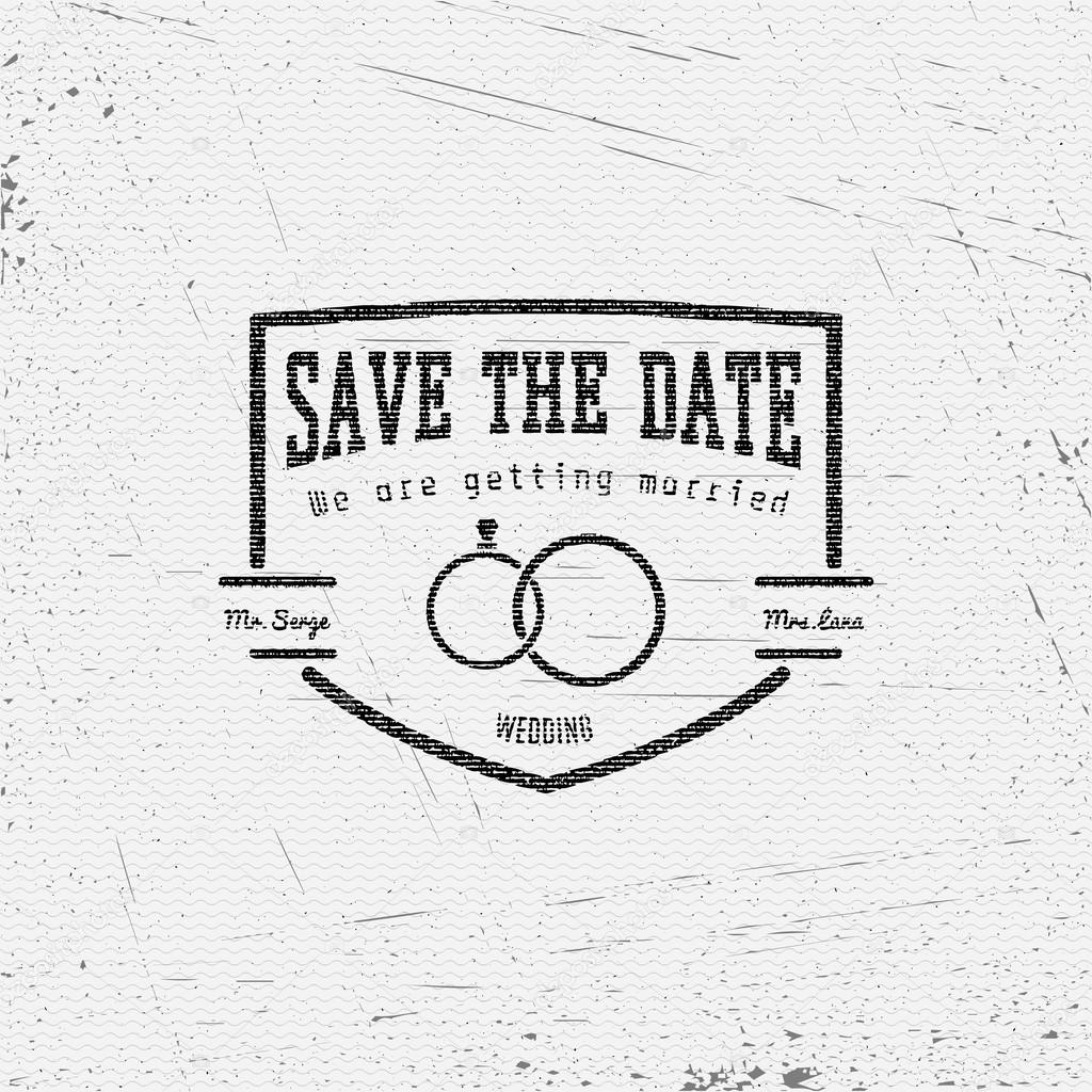Save the date badges cards and labels for any use
