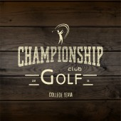 Golf Badges Logos und Etiketten für jede Verwendung