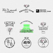 Fotografie Squash badges logos and labels for any use