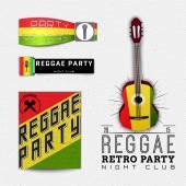 Fotografie Reggae-Partei-Abzeichen und Etiketten für jede Verwendung