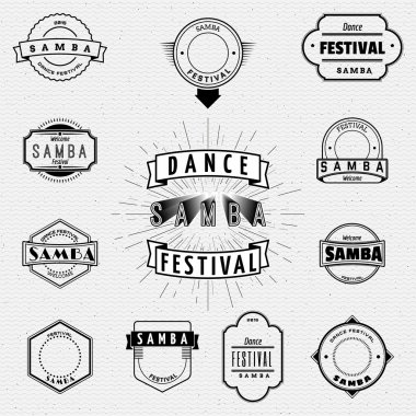 Dance Festival insignia  and labels for any use