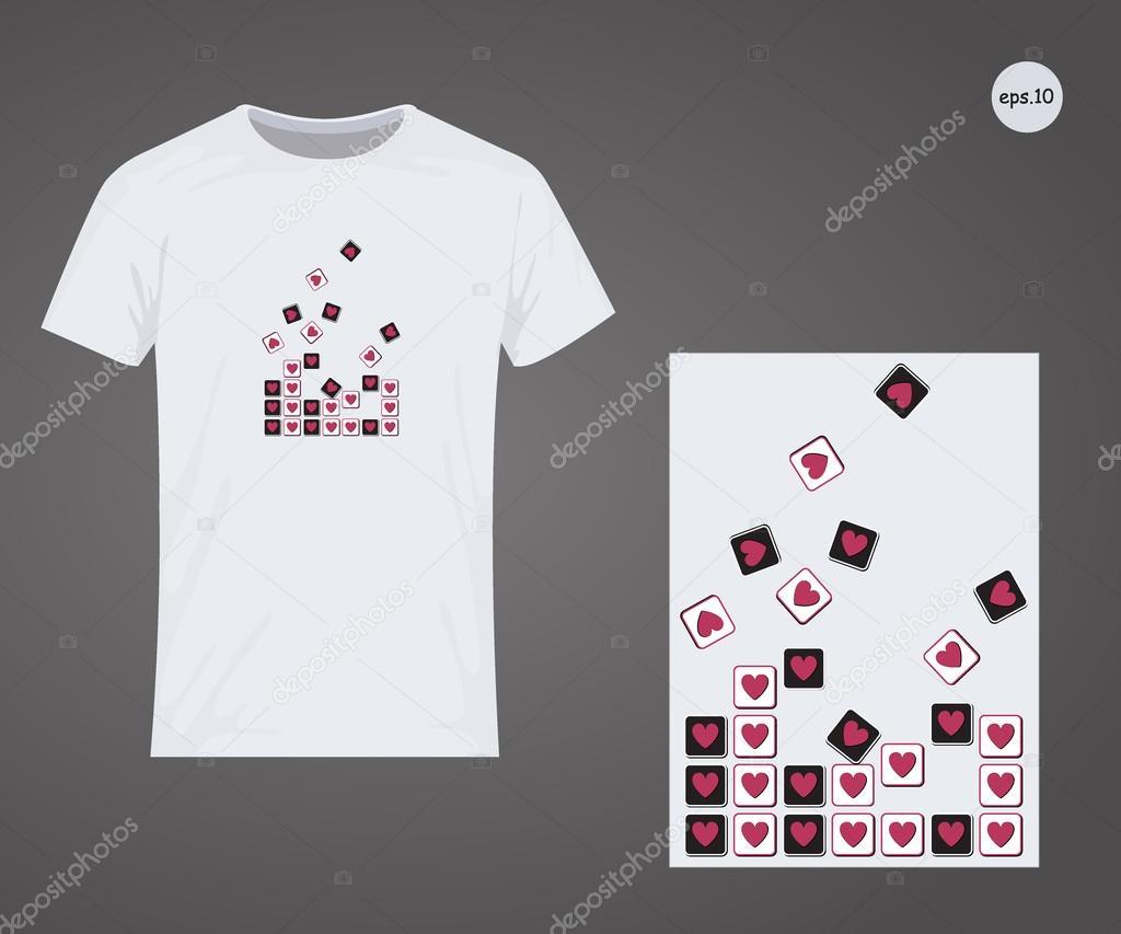 673855fa6370f Diseño vectorial para imprimir en camisetas. Eps10 archivo cómodo para la  edición - imágenes  amor para imprimir en playeras — Vector de ...