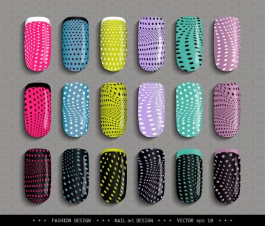 Nail-design-colorful-dots-pattern