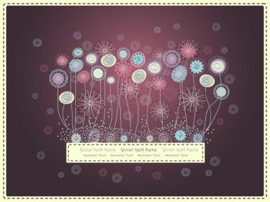 Аbstract floral background in burgundy  tones