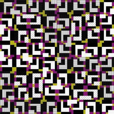 Seamless colorful pattern with geometric designs