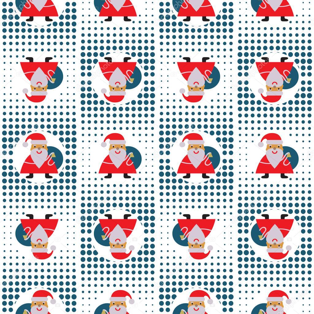 Modèle Abstrait Du Nouvel An Sans Soudure Avec Le Père Noël
