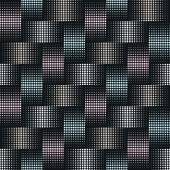 Photo Seamless background of points with effect weave in silver, blue and pink colors