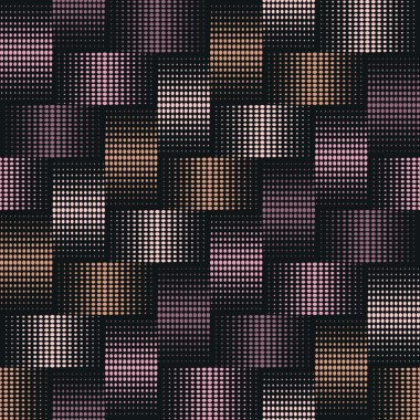 Seamless background of points with effect weave in silver, bronze and copper tones