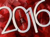 Šťastný nový rok 2016. Vektorové pozadí polygonů