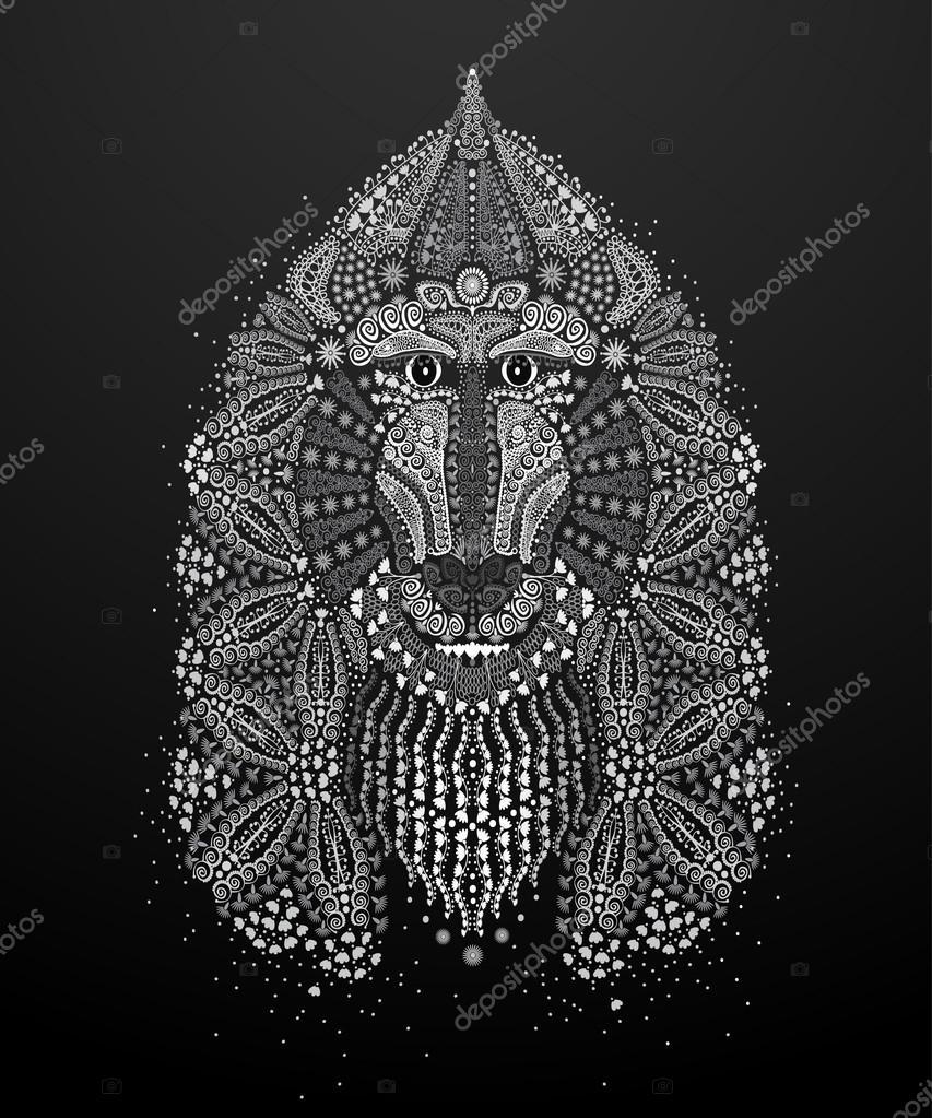 Monkey mehendi, a symbol of New Year 2016