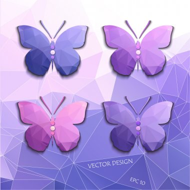 Set of abstract colored butterflies of polygons