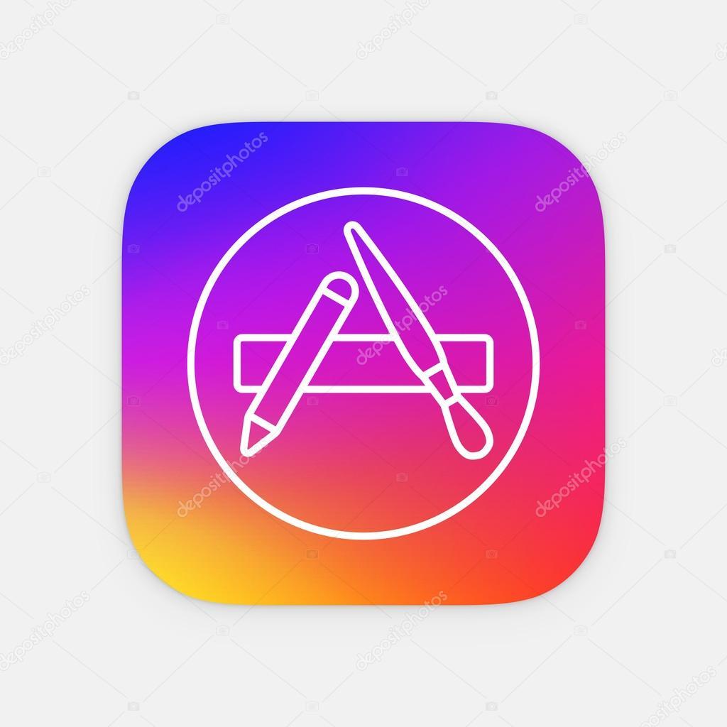 vector apps shop icon app icon template mobile application icon