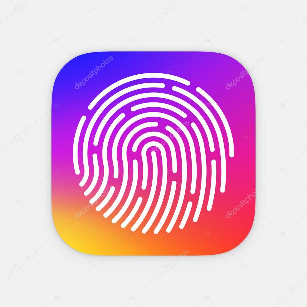 Plantilla para icono App ID. Ilustración de vector de huellas ...