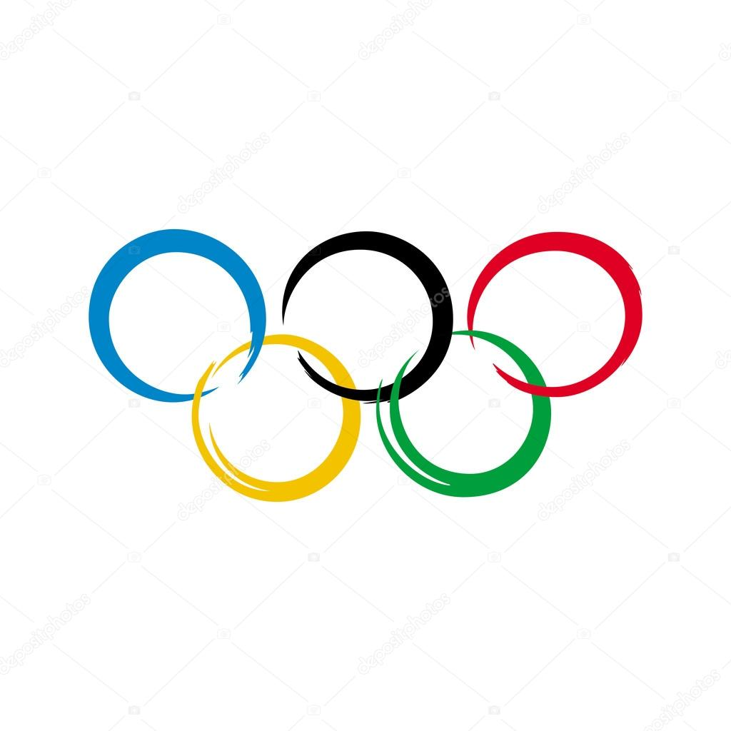 olympic rings icon template vector illustration � stock