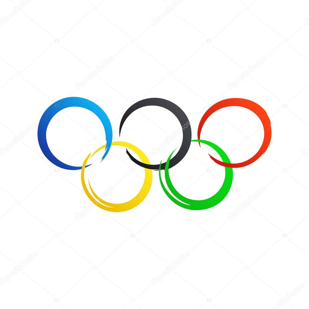 olympic rings icon template vector illustration stock vector rh depositphotos com olympic ring vector graphic olympic rings vector free download