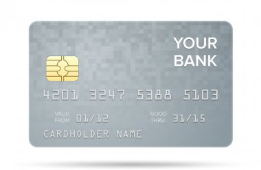 Vector illustration of detailed credit card isolated on white background clip art vector