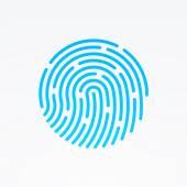 ID-app-Symbol. Fingerabdruck-Vektor-illustration