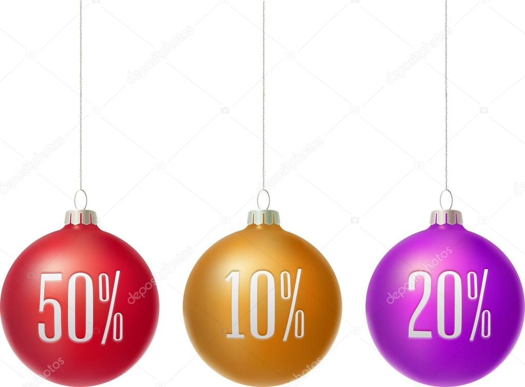 Merry Christmas sale baubles
