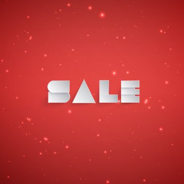 Abstract background with paper sale banner
