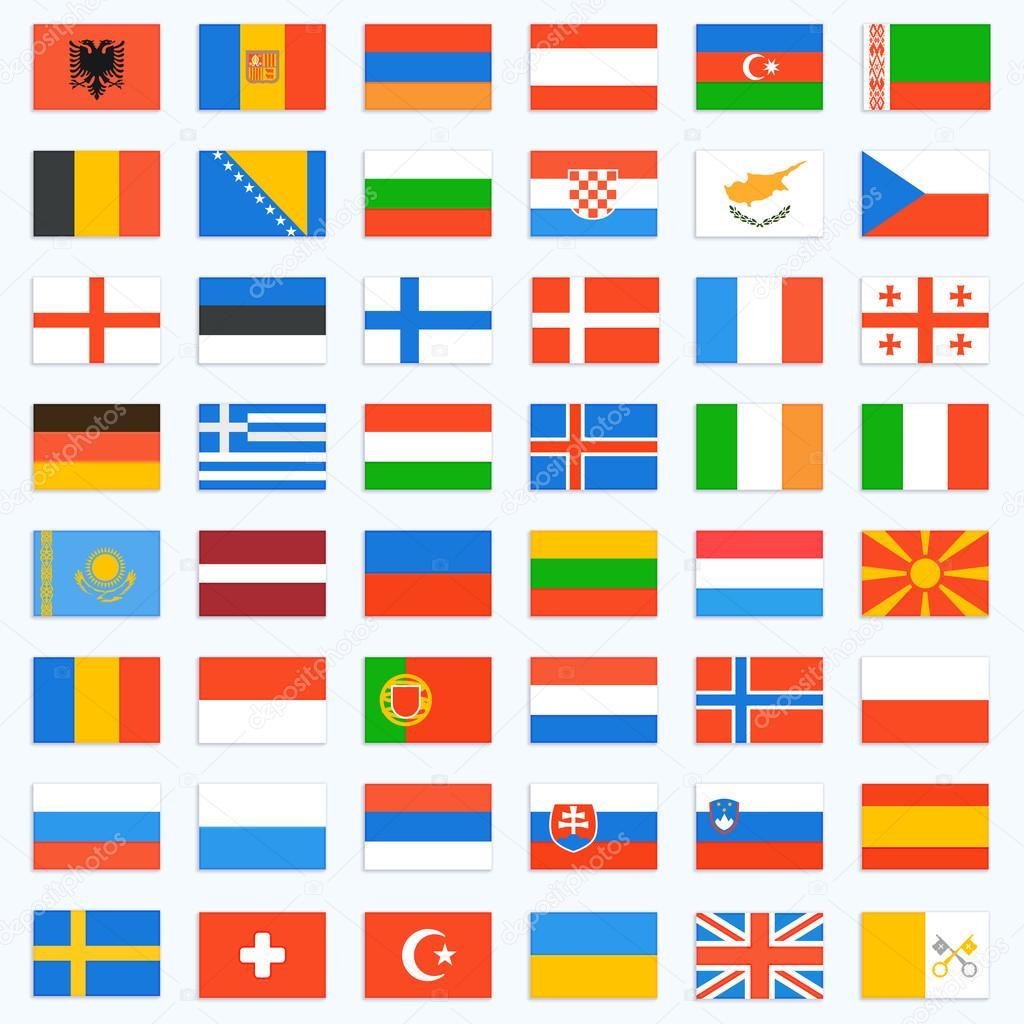 Flags of Europe, complete set