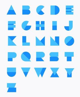 Geometric Paper Alphabet