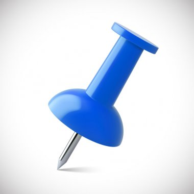 Red push pin isolated