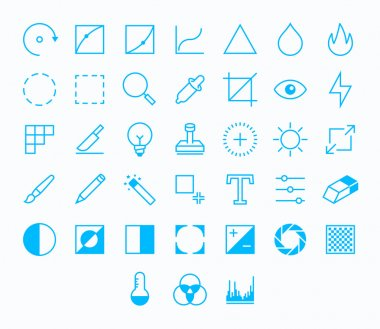 Photography Outline vector icons for web and mobile