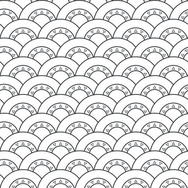 Seamless geometric pattern, Vector