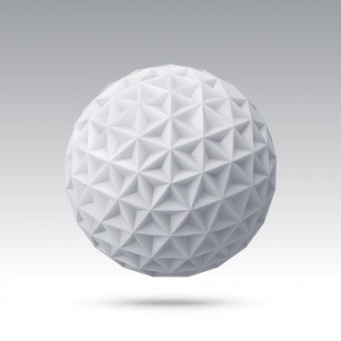 Abstract vector sphere with triangular faces