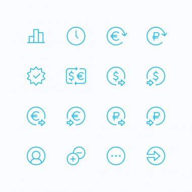 Outline ecommerce & finance vector icons for web and mobile