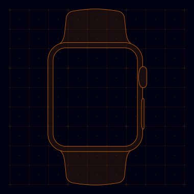 Watch vector template for prototyping