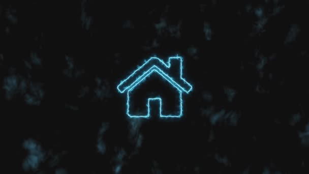 Stop motion. The blue home icon gradually increases and changes color to green. 4K 60 fps video