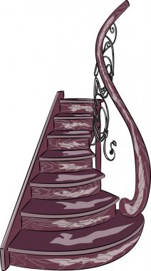 vector decorative wooden staircase