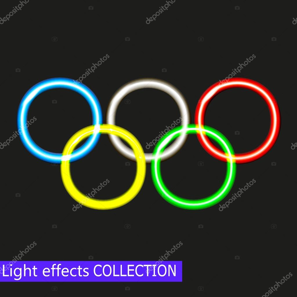 colorful circles rainbow neon dark rings bubbles in colourbox effect glowing sparkling stock with background colors spectrum and bokeh light vector