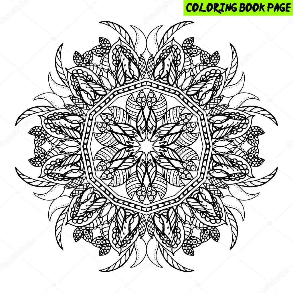 Coloriage Livre Mandala Mandala De Contour Ligne Mandala Mandala
