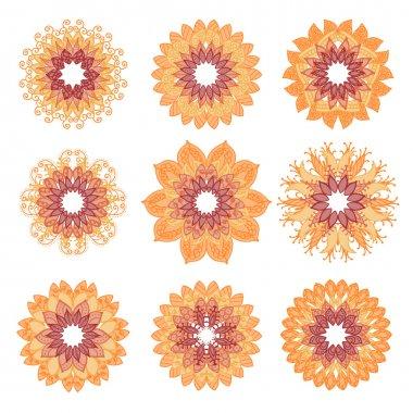 Colorful mandalas set. Mandala vector, mandala art, mandala design, mandala pattern, mandala tattoo, mandala vector. Mandala flower, mandala print, isolated mandala, cute mandala, mandala floral