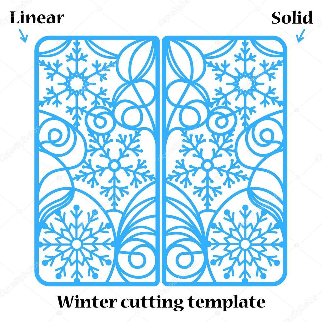 Invierno Navidad invitación o tarjeta de felicitación con ornamento ...