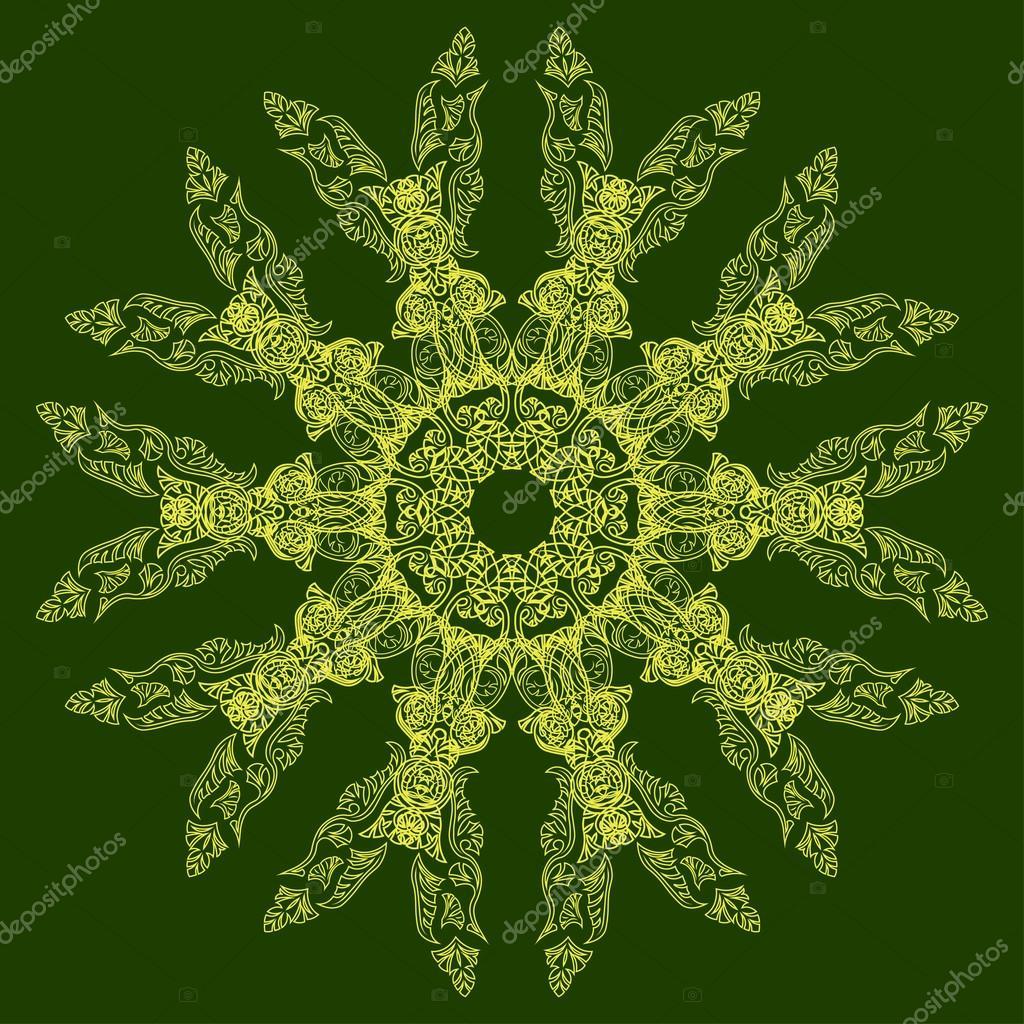 Mandala Indiano Di Ornato Centrino Tondo Traforati Sfondo Cerchio