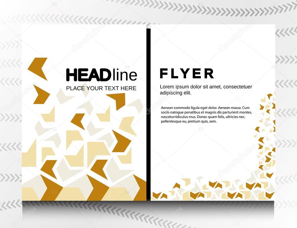 Abstractl Patchwork geometrische Broschüre Flyer Gestaltung Layout ...