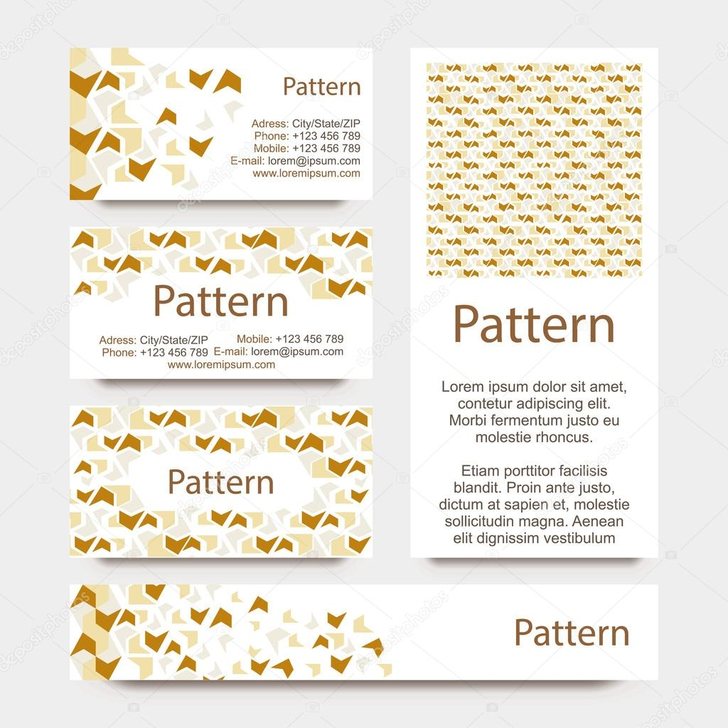 Business cards pattern with broken wall or puzzle ornament includes business cards pattern with broken wall or puzzle ornament includes seamless pattern cmyk vector by liluart colourmoves