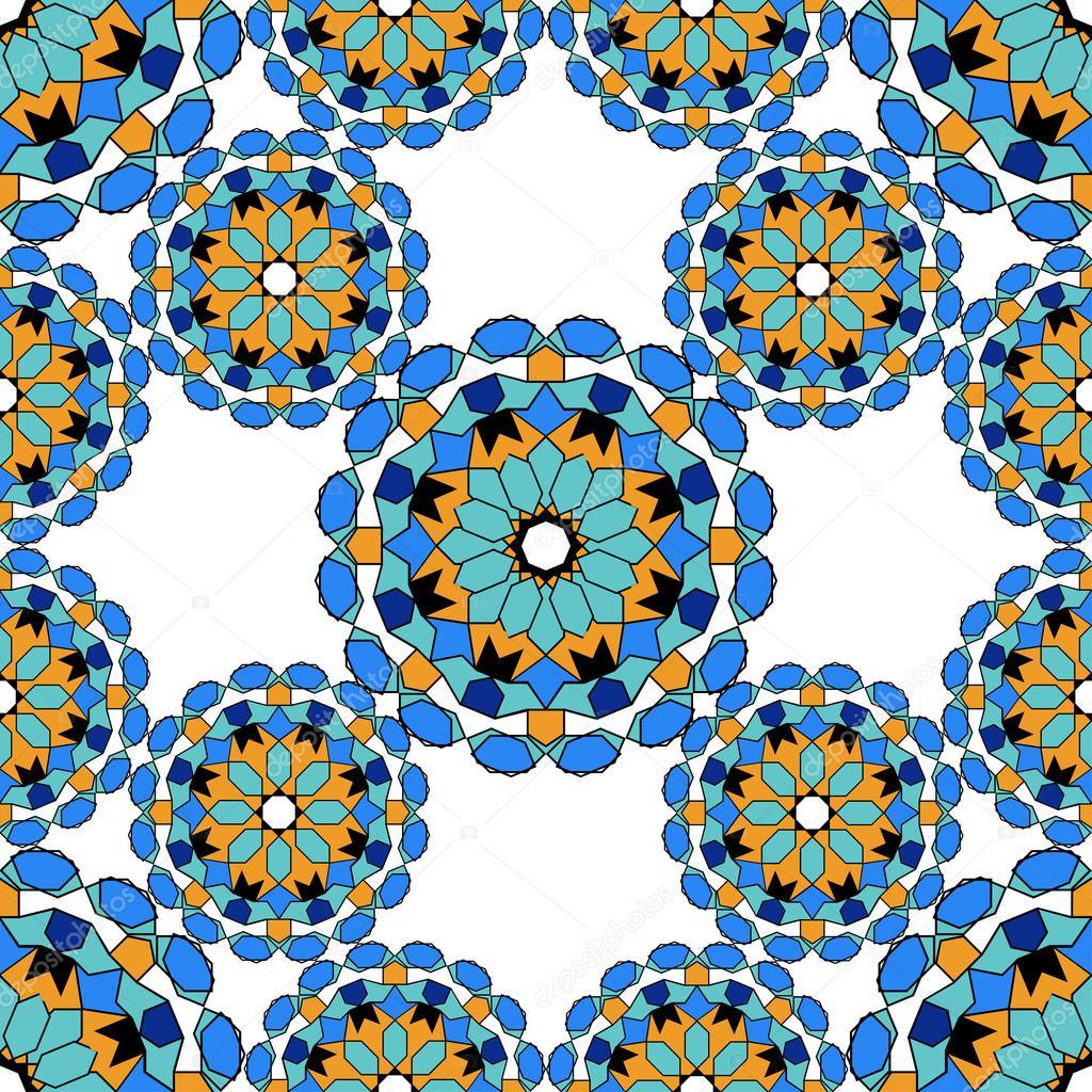 wundersch ne nahtlose muster von blauen marokkanische. Black Bedroom Furniture Sets. Home Design Ideas