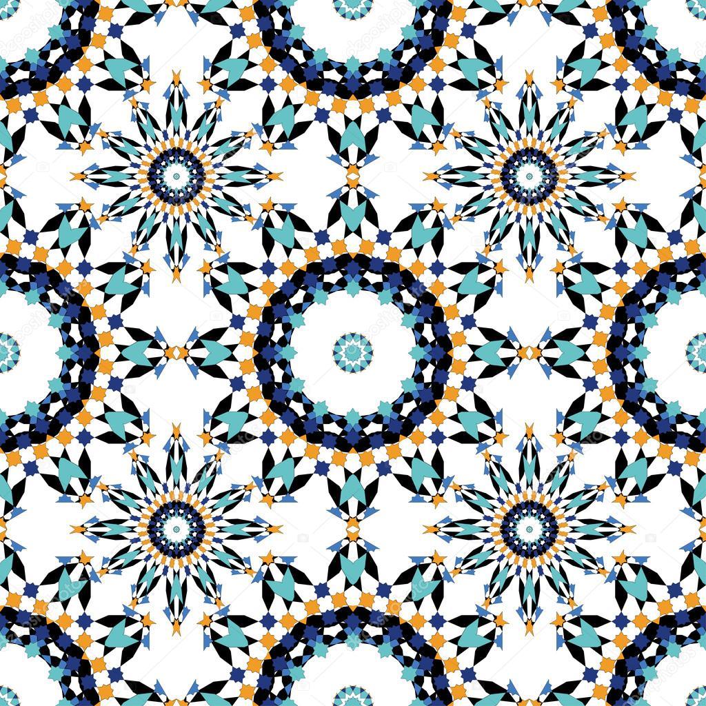 wundersch ne nahtlose muster von blauen marokkanische fliesen ornamente einsetzbar f r tapete. Black Bedroom Furniture Sets. Home Design Ideas