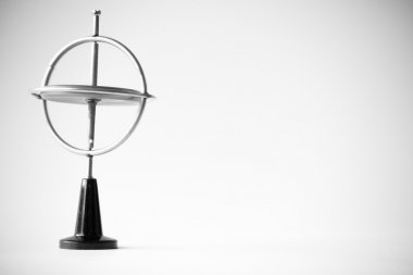 Gyroscope in black and white