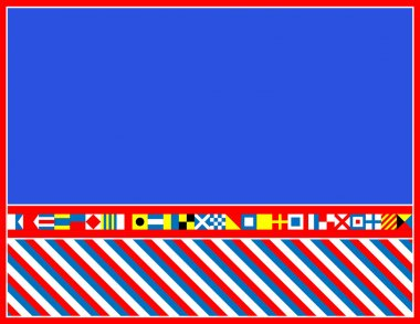 EPS8 Vector red, white and blue nautical flags border or frame.