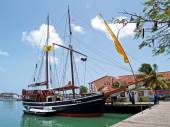 Old Pirate Ship in St. Johns Harbour Antigua Barbuda